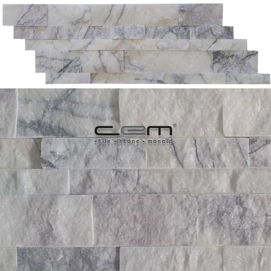 Lilac Marble Z Panel Wall Cladding Split Face - Cem Marble