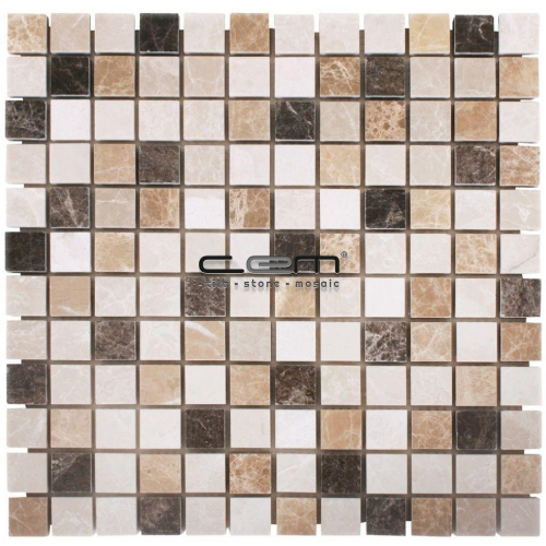 1x1 - 23mmx23mm Spanish Mix Marble Mosaic