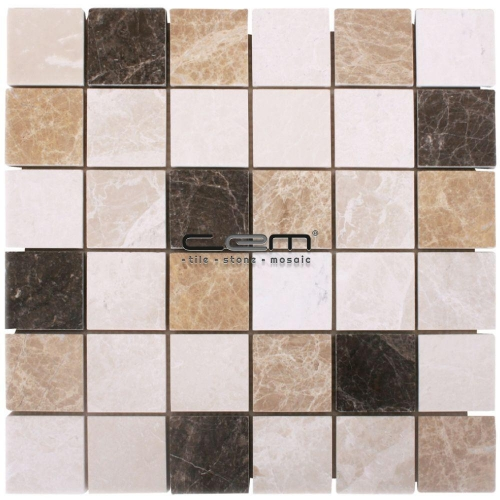 2x2 - 48mmx48mm Spanish Mix Marble Mosaic
