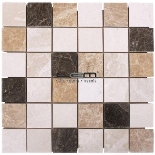 2x2 - 48mmx48mm Spanish Mix Marble Mosaic