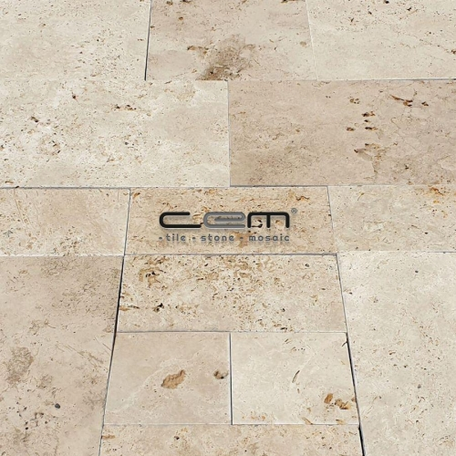 Commercial Travertine Tumbled French Pattern Set