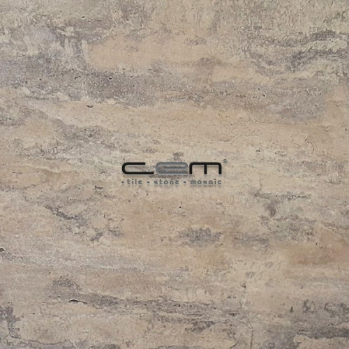 Cashmere Silver Travertine Tile Unfilled Honed
