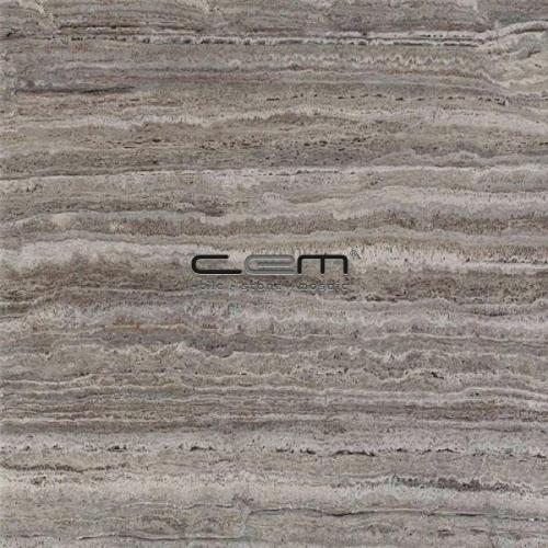 Silver Travertine Vein Cut Tile Filled Honed