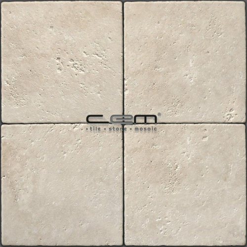 Light Travertine Tumbled Tile