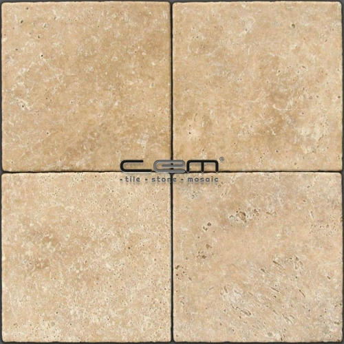 Walnut Travertine Tumbled Tile