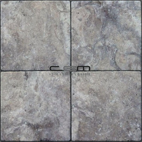 Silver Travertine Tumbled Tile