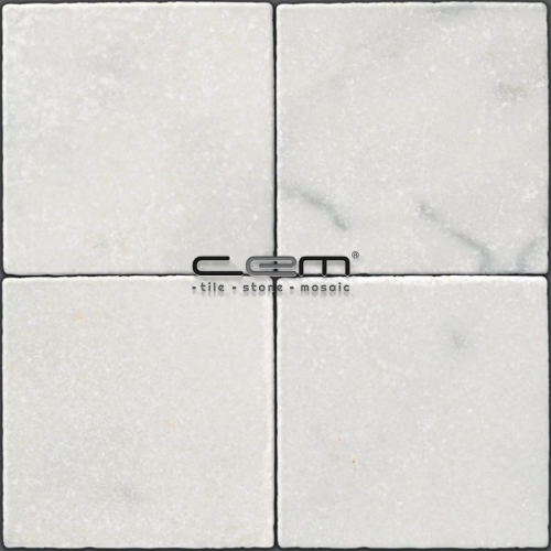 Bianco Ibiza White Marble Tumbled Tile