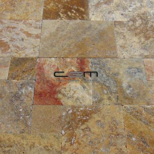 Scabas Travertine Tumbled Pattern Set Paver