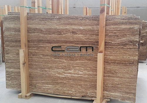 Noche Travertine Vein Cut Slab