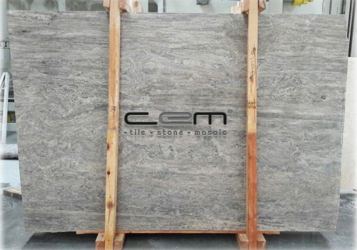 Silver Travertine Vein Cut Slab