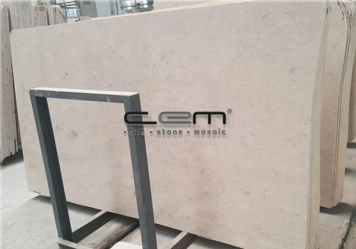 Sugar Fosilled Beige Marble Slab