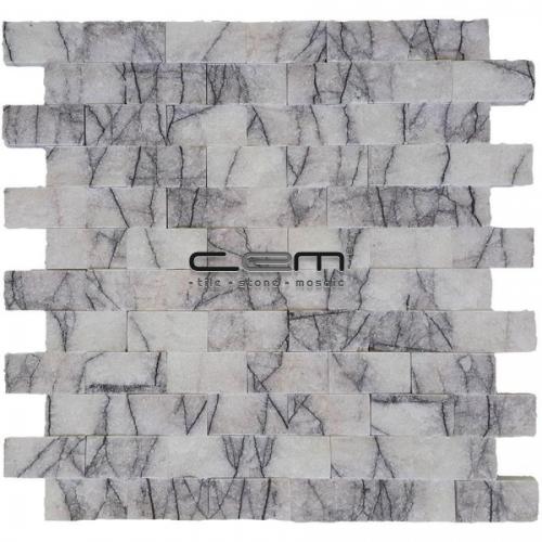 2,5x5cm (1x2) Lilac Marble Split Face Mosaic