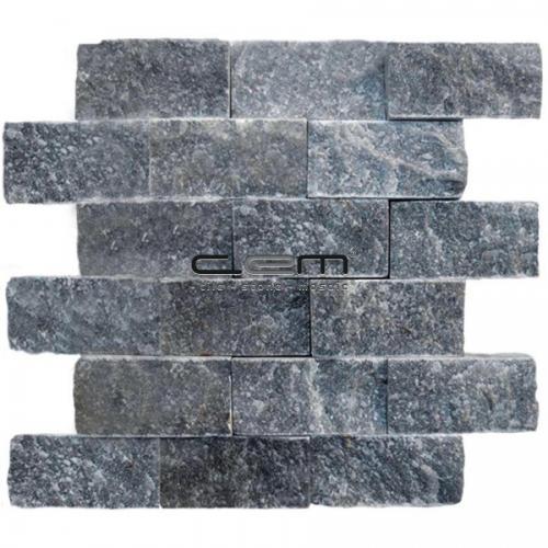 5x10cm (2x4) Blue Stone Marble Split Face Mosaic