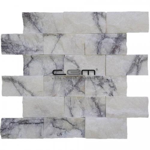 5x10cm (2x4) Lilac Marble Split Face  Mosaic