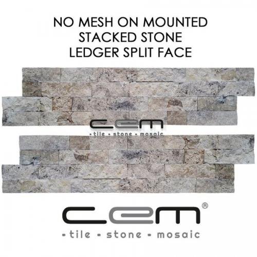 Philadelphia Travertine Ledger Panel Split Face Mosaic