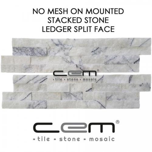 Lilac Marble Ledger Panel Split Face Mosaic