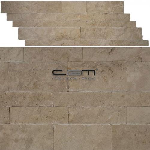 Classic Travertine Z Panel Wall Cladding Split Face Mosaic