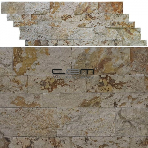 Valencia Travetine Z Panel Wall Cladding Split Face Mosaic