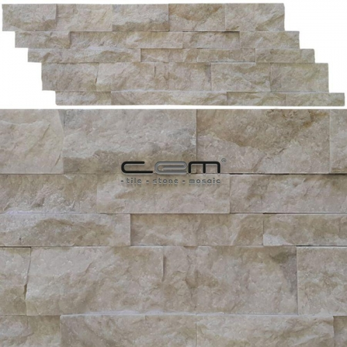 Cappuccino Marble Z Panel Wall Cladding Split Face