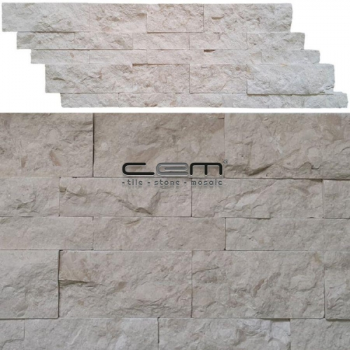 Myra Fosilled Limestone Z Panel Wall Cladding Split Face