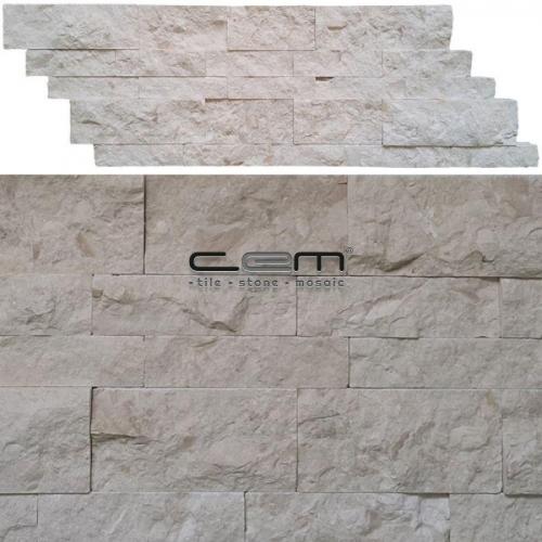 Myra Fosilled Limestone Z Panel Wall Cladding Split Face