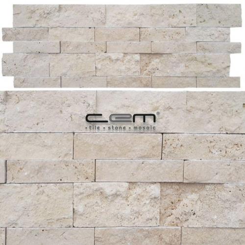 Light Traverten Panel Patlatma Mozaik