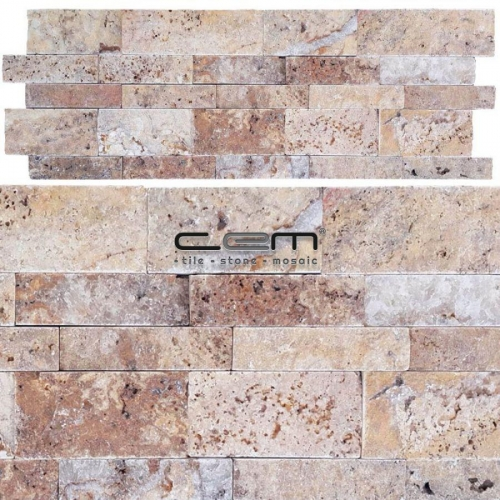 Scabas Gold Travertine Wall Cladding Split Face Wall Cladding