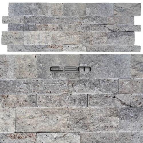 Silver Travertine Wall Cladding Split Face Wall Cladding