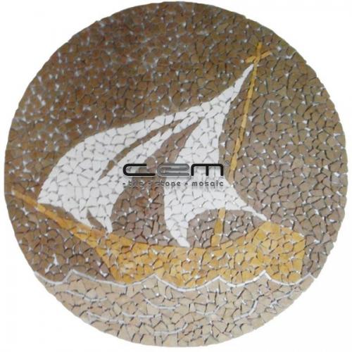 Boat Art Mosaic