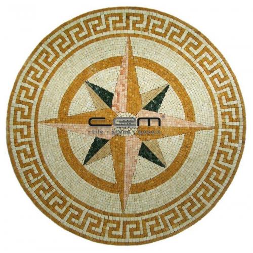 Compass Art Mosaic