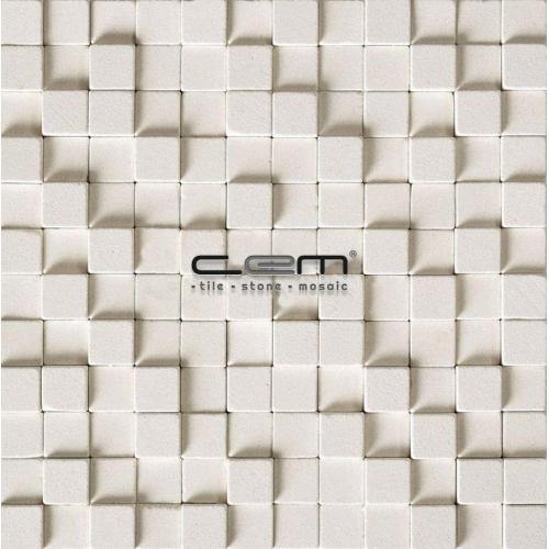 1x1 - 23mmx23mm Limestone Cubic Tumbled Mosaic