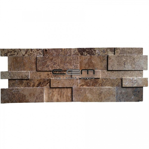 Noche Travertine 3D Cubic Wall Cladding Mosaic
