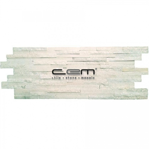 Plus Mosaic White Bianco Carrara Split Face Polished Mosaic