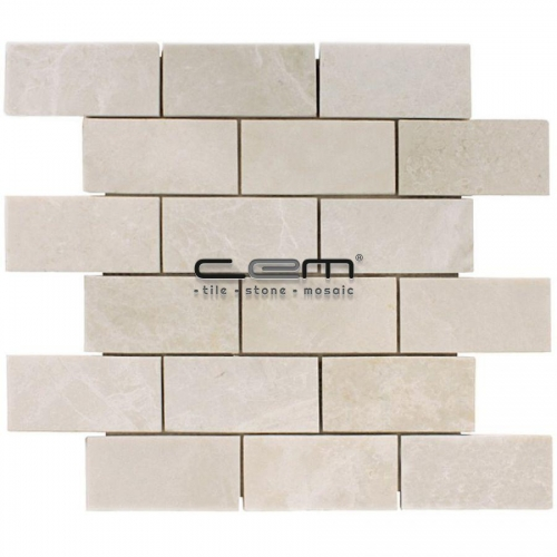 2x4 - 48mmx100mm Botticino Beige Polished Mosaic