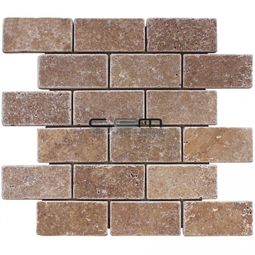 2x4 - 48mmx100mm Noche Travertine Tumbled Mosaic