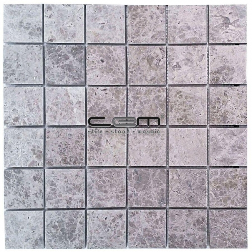 2x2 -48mmx48mm Silver Shadow Tundra Grey Polished Mosaic