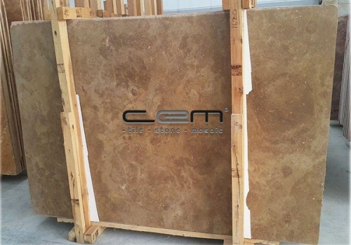 Noche Travertine Slab Cross Cut