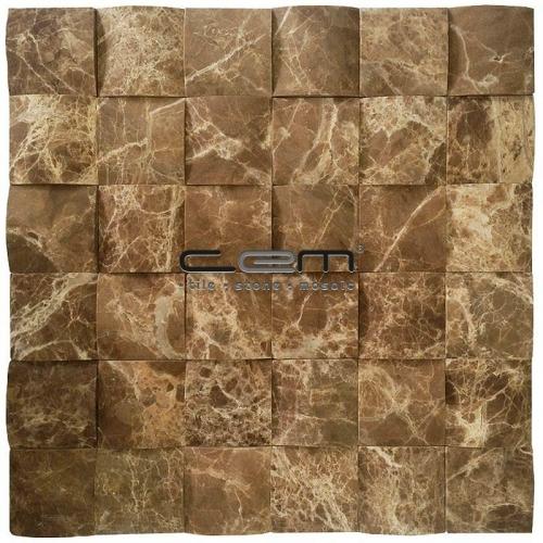 2X2 - 48mmx48mm Dark Emperador Square Bambu Mosaic