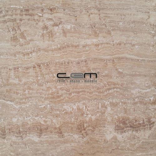 Walnut Travertine Vein Cut Tile Filled Honed